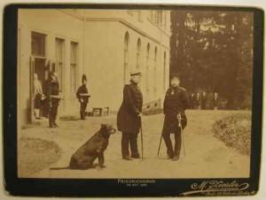 Bismarck und Kaiser Wilhelm II. in Friedrichsruh