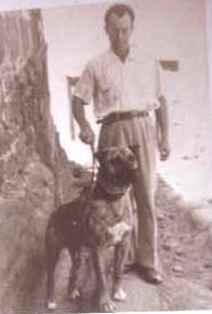 Nerón z właścicielem Panchito Saavedra (marzec 1958)