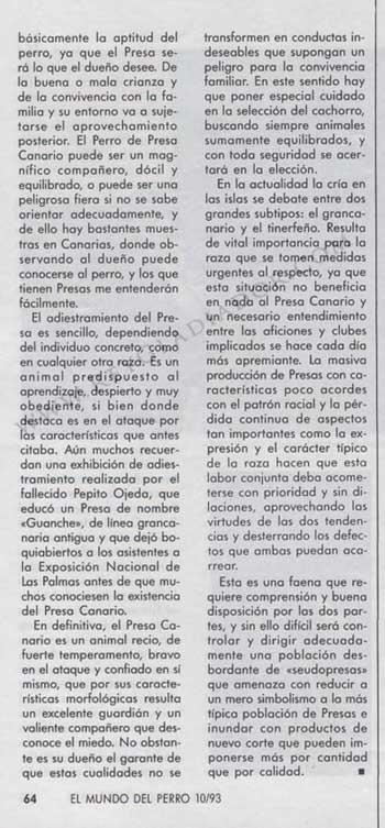 ARTÍCULO PUBLICADO EN LA REVISTA EL MUNDO DEL PERRO EN OCTUBRE DE1993 3