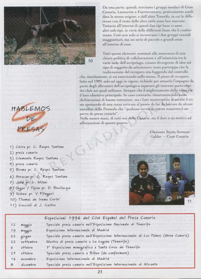 ARTÍCULO PUBLICADO EN LA REVISTA ITALIANA CANI DA PRESA EN ABRIL DE 1996 4