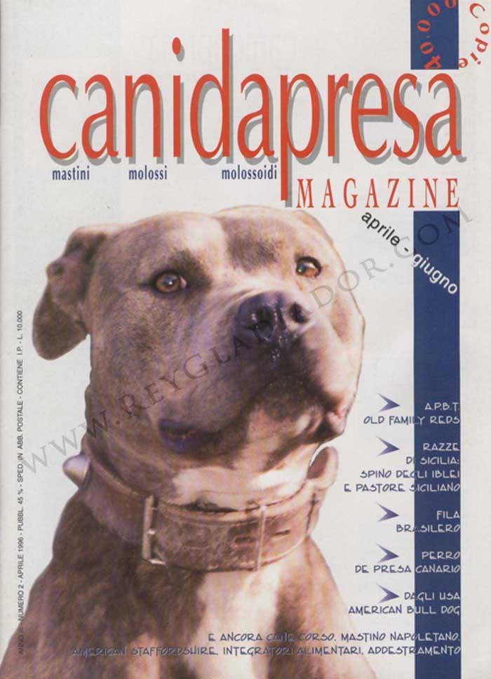 ARTÍCULO PUBLICADO EN LA REVISTA ITALIANA CANI DA PRESA EN ABRIL DE 1996