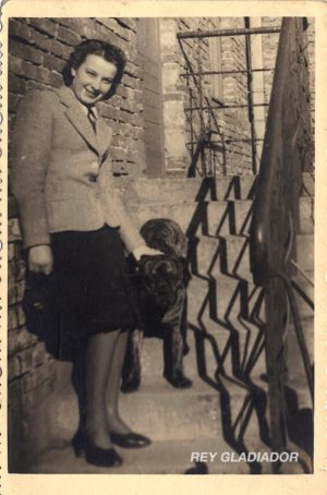 Woman and dog, Brzesc, Poland year 1942
