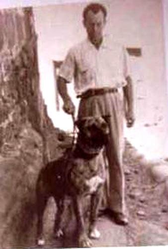 Nerón con su propietario, Pancho Saavedra.