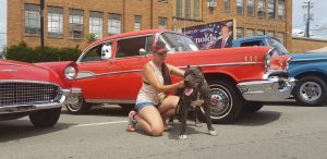 Xixi and cruisin the Heartland car show