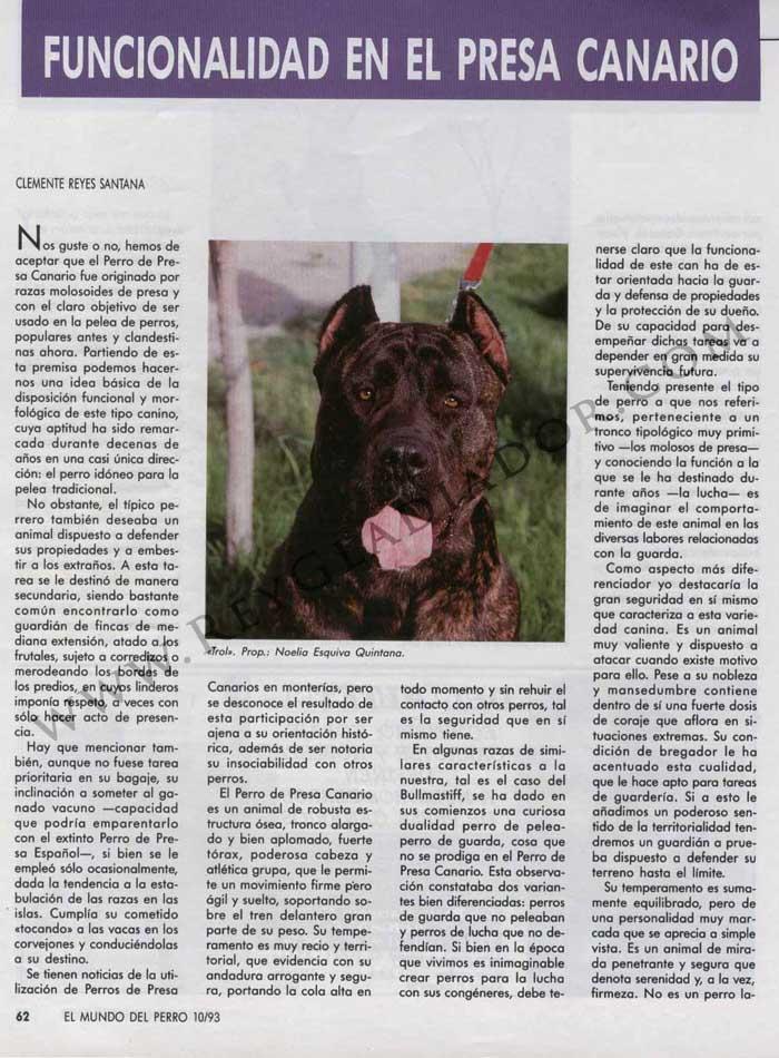 ARTÍCULO PUBLICADO EN LA REVISTA EL MUNDO DEL PERRO EN OCTUBRE DE1993 1