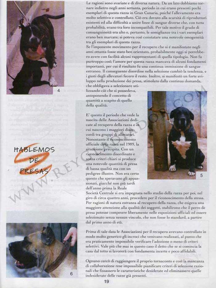 ARTÍCULO PUBLICADO EN LA REVISTA ITALIANA CANI DA PRESA EN ABRIL DE 1996 2